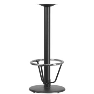 Wholesale 18'' Round Restaurant Table Base with 3'' Dia. Bar Height Column and Foot Ring
