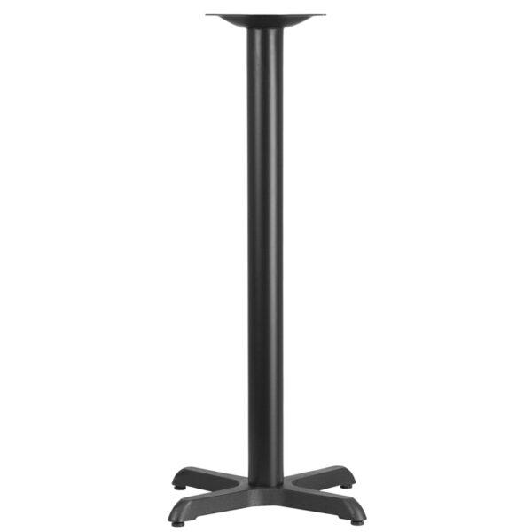 Wholesale 22'' x 22'' Restaurant Table X-Base with 3'' Dia. Bar Height Column