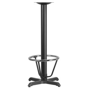 Wholesale 22'' x 22'' Restaurant Table X-Base with 3'' Dia. Bar Height Column and Foot Ring