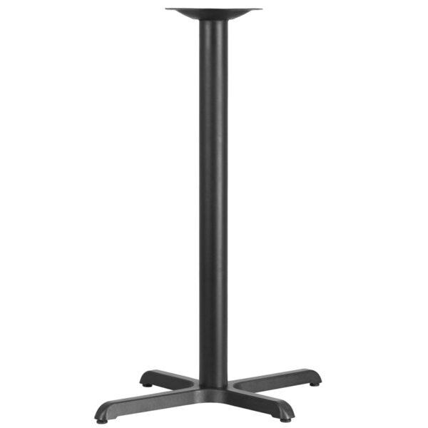 Wholesale 22'' x 30'' Restaurant Table X-Base with 3'' Dia. Bar Height Column