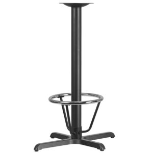 Wholesale 22'' x 30'' Restaurant Table X-Base with 3'' Dia. Bar Height Column and Foot Ring