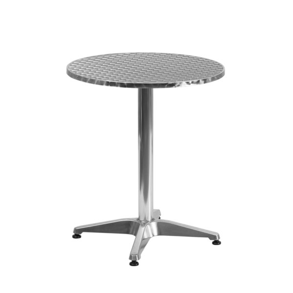 Wholesale 23.5'' Round Aluminum Indoor-Outdoor Table with Base