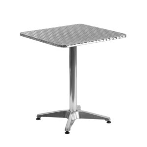 Wholesale 23.5'' Square Aluminum Indoor-Outdoor Table with Base