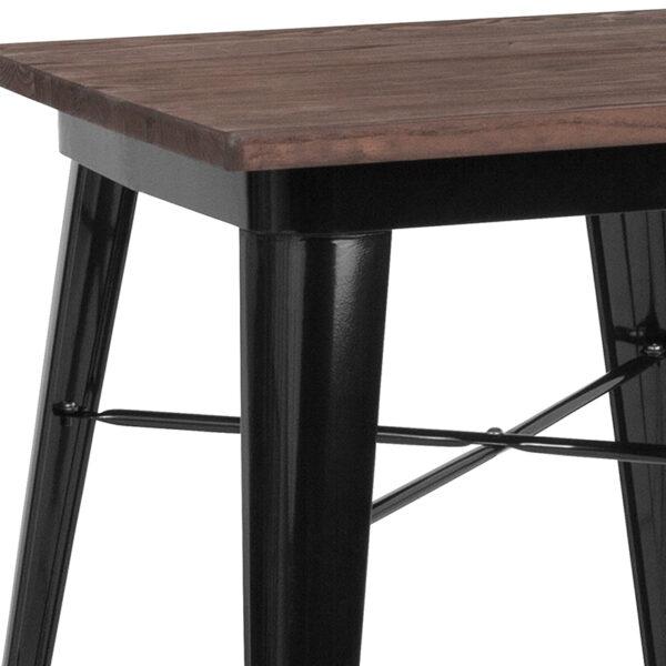 Metal Cafe Table 23.5SQ Black Metal Table