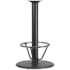 Wholesale 24'' Round Restaurant Table Base with 4'' Dia. Bar Height Column and Foot Ring