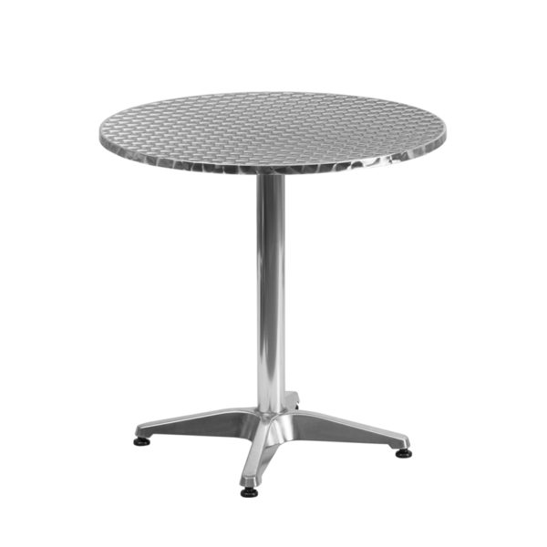 Wholesale 27.5'' Round Aluminum Indoor-Outdoor Table with Base