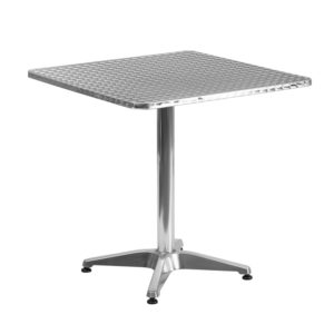 Wholesale 27.5'' Square Aluminum Indoor-Outdoor Table with Base