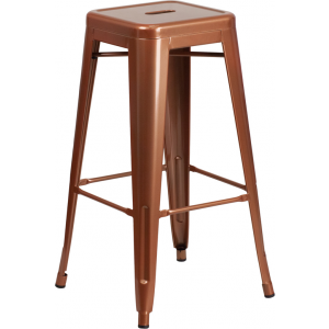 Wholesale 30'' High Backless Copper Indoor-Outdoor Barstool
