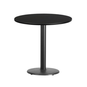 Wholesale 30'' Round Black Laminate Table Top with 18'' Round Table Height Base