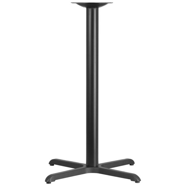Wholesale 30'' x 30'' Restaurant Table X-Base with 3'' Dia. Bar Height Column