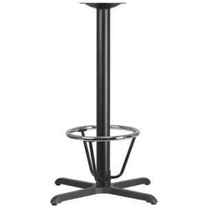 Wholesale 30'' x 30'' Restaurant Table X-Base with 3'' Dia. Bar Height Column and Foot Ring