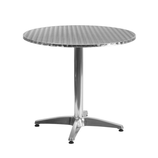 Wholesale 31.5'' Round Aluminum Indoor-Outdoor Table with Base