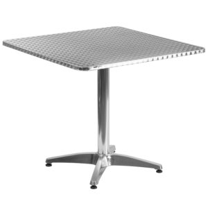 Wholesale 31.5'' Square Aluminum Indoor-Outdoor Table with Base