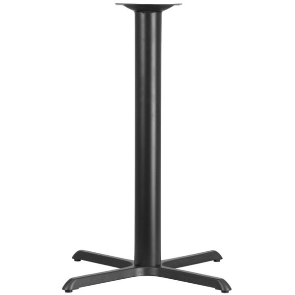 Wholesale 33'' x 33'' Restaurant Table X-Base with 4'' Dia. Bar Height Column