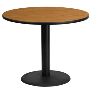 Wholesale 36'' Round Natural Laminate Table Top with 24'' Round Table Height Base