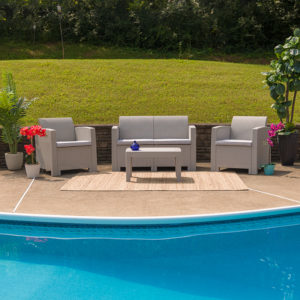 Wholesale 4 Piece Outdoor Faux Rattan Chair