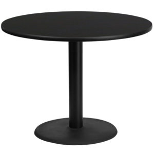 Wholesale 42'' Round Black Laminate Table Top with 24'' Round Table Height Base
