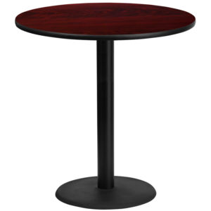 Wholesale 42'' Round Mahogany Laminate Table Top with 24'' Round Bar Height Table Base