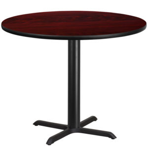 Wholesale 42'' Round Mahogany Laminate Table Top with 33'' x 33'' Table Height Base