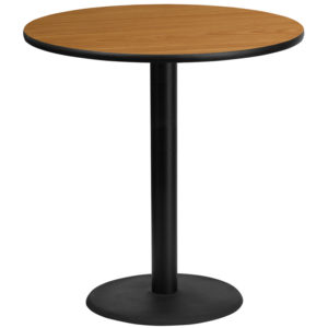 Wholesale 42'' Round Natural Laminate Table Top with 24'' Round Bar Height Table Base