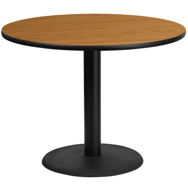 Wholesale 42'' Round Natural Laminate Table Top with 24'' Round Table Height Base
