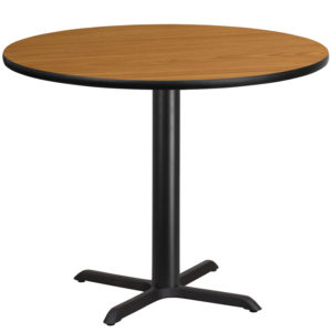 Wholesale 42'' Round Natural Laminate Table Top with 33'' x 33'' Table Height Base