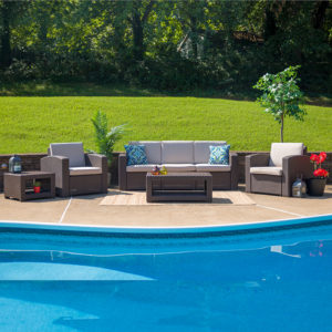 Wholesale 5 Piece Outdoor Faux Rattan Chair