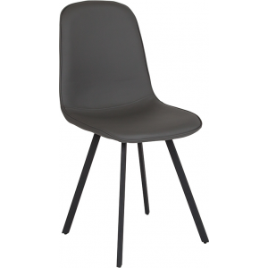 Wholesale Argos Contemporary Dining Chair in Light Gray Vinyl
