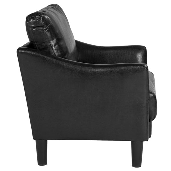 Lowest Price Asti Upholstered Chair in Black Leather