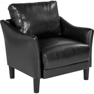 Wholesale Asti Upholstered Chair in Black Leather