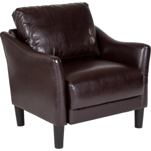 Wholesale Asti Upholstered Chair in Brown Leather