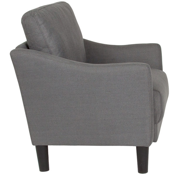 Lowest Price Asti Upholstered Chair in Dark Gray Fabric