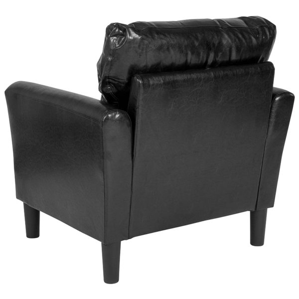 Contemporary Style Black Leather Chair
