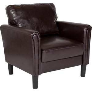 Wholesale Bari Upholstered Chair in Brown Leather