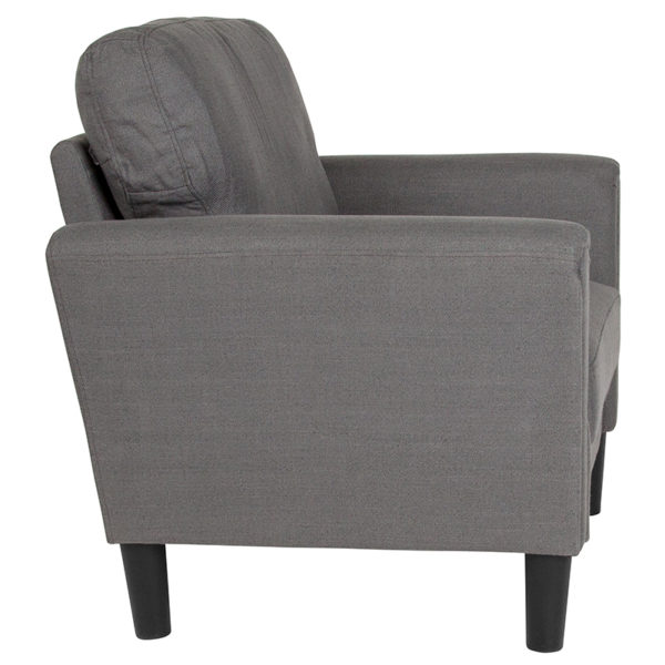 Lowest Price Bari Upholstered Chair in Dark Gray Fabric