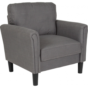 Wholesale Bari Upholstered Chair in Dark Gray Fabric