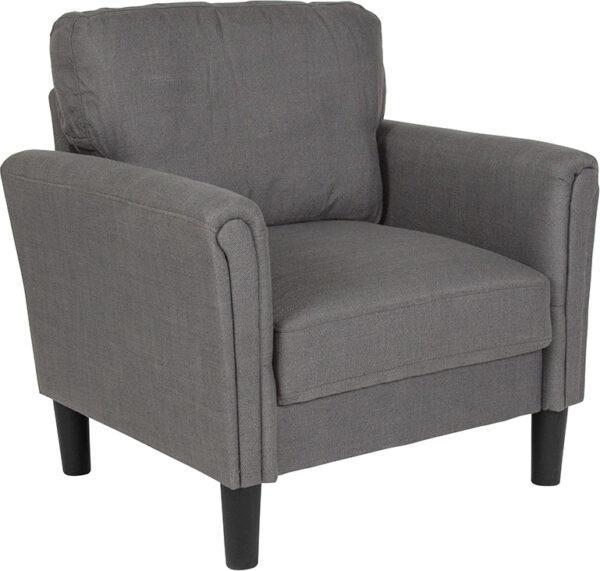 Wholesale Bari Upholstered Chair in Dark Gray Fabric