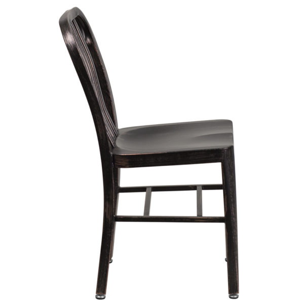 Lowest Price Black-Antique Gold Metal Indoor-Outdoor Chair