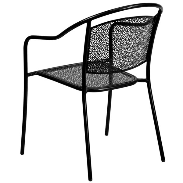 Stackable Patio Chair Black Round Back Patio Chair