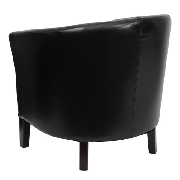 Transitional Style Black Leather Chair