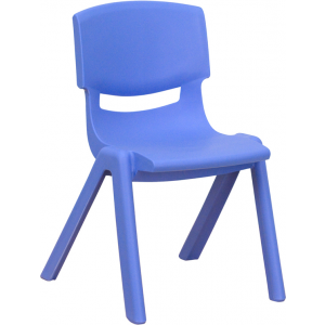 Wholesale Blue Plastic Stackable School Chair with 12'' Seat Height