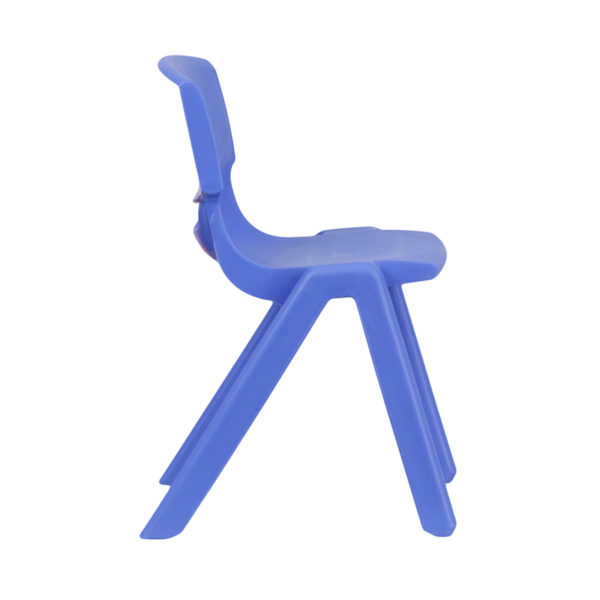 Lowest Price Blue Plastic Stackable School Chair with 13.25'' Seat Height