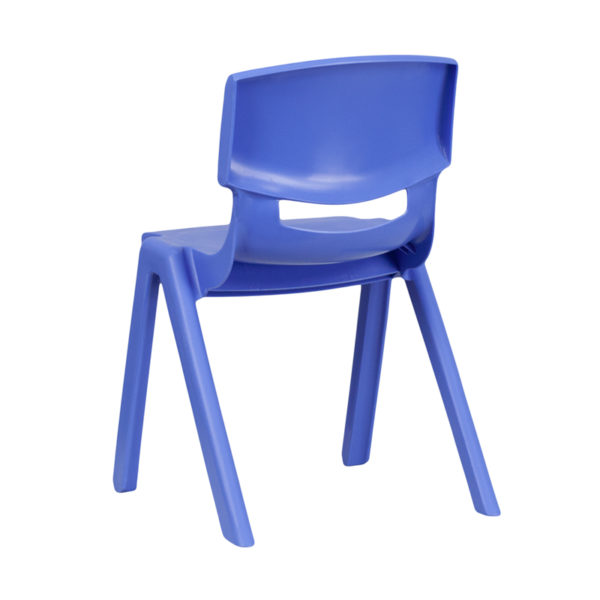 Stacking Student Chair Blue Plastic Stack Chair