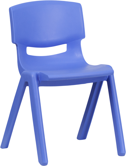 Wholesale Blue Plastic Stackable School Chair with 13.25'' Seat Height