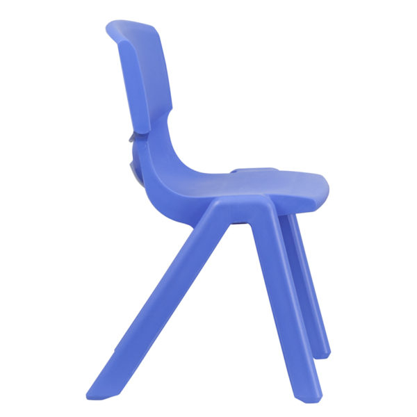 Lowest Price Blue Plastic Stackable School Chair with 15.5'' Seat Height