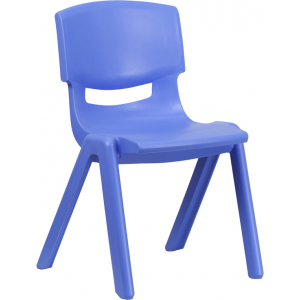 Wholesale Blue Plastic Stackable School Chair with 15.5'' Seat Height