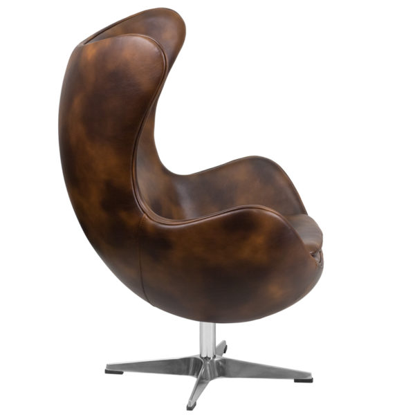 Lowest Price Bomber Jacket Leather Egg Chair with Tilt-Lock Mechanism