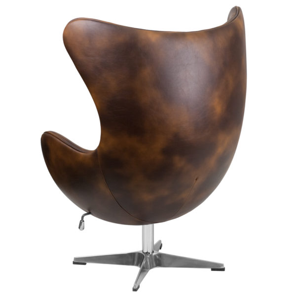 Lounge Chair Bomber Leather Egg Chair