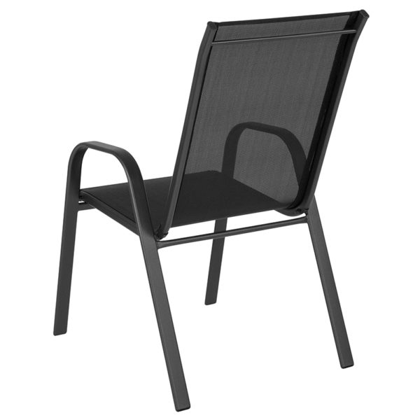Stackable Sling Patio Chair Black Patio Stack Chair