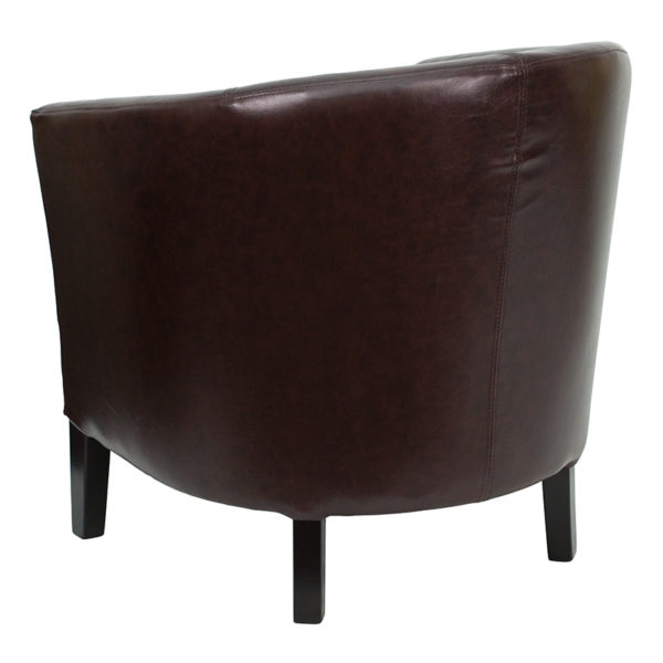 Transitional Style Brown Leather Chair
